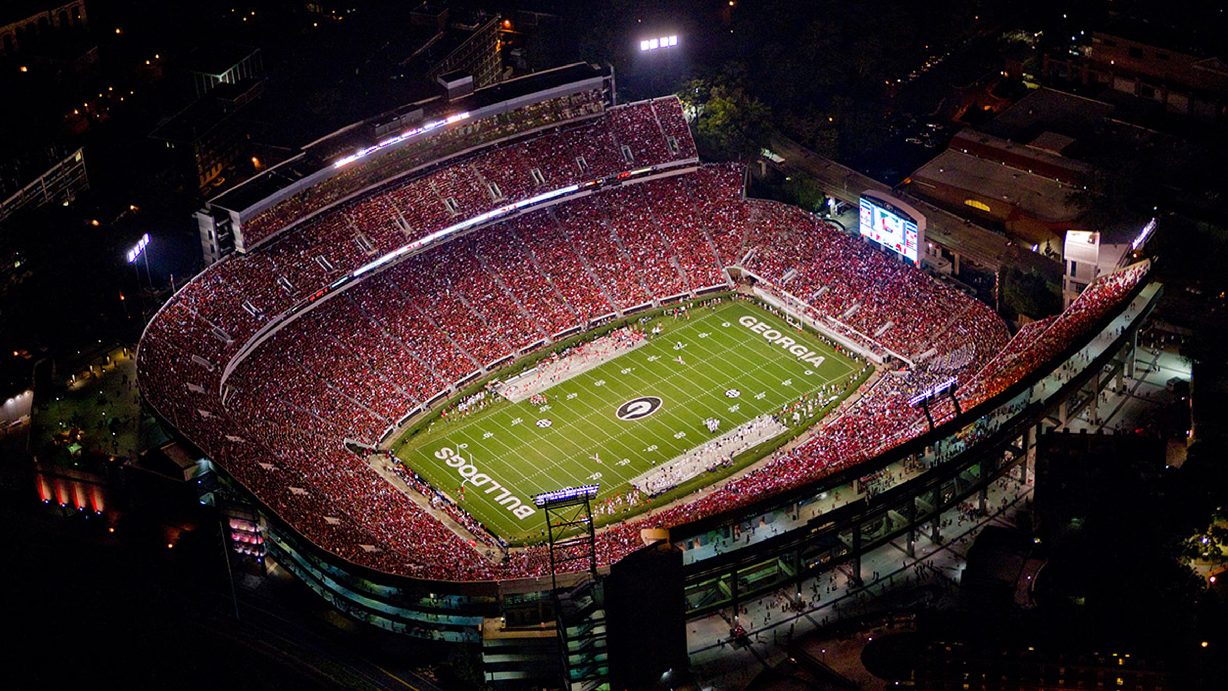 Georgia Bulldog Football Stadium Ariel View