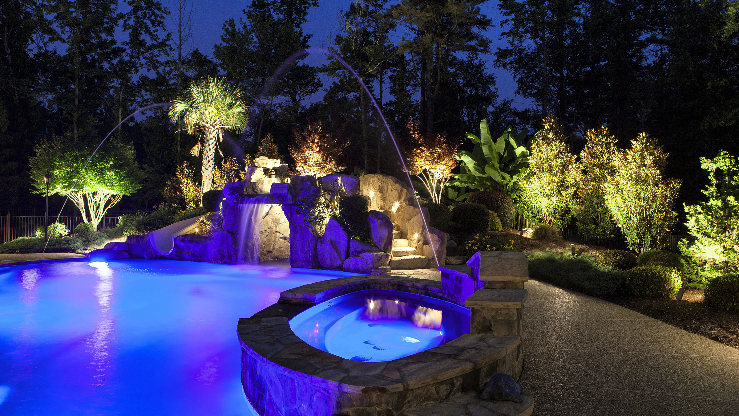 Lanterra Accent and Flood LED outdoor application